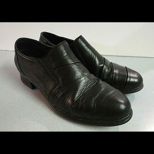 Rieker anti stress slip on shoes black size 8